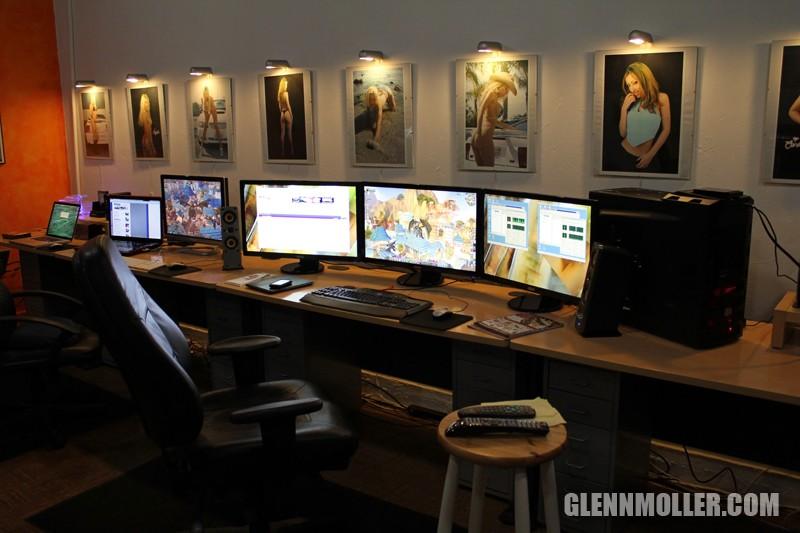 Glennmoller Com 187 New Desk Arrangement For The Eyefinity